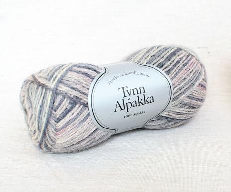 Tynn Alpakka Handmålat Färg 193