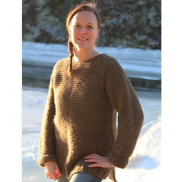 Rätstickad tröja i Norsk Pelsullgarn