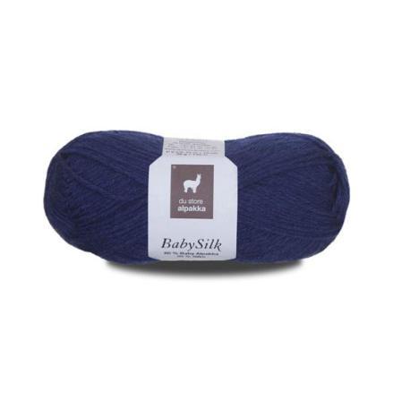 Du Store Alpakka - Babysilk, Färg 314, blå
