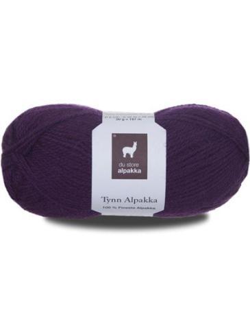 Tynn Alpakka, färg 122 Mörk lila