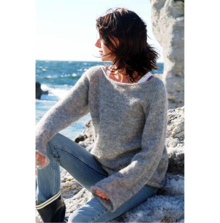 Båtringad tröja i Gotlandsullen Fårö