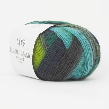 Jawoll Magic Degrade, nr 88 grön, turkos, grå nyanser
