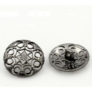 Metallknapp 20 mm, mörktgrå